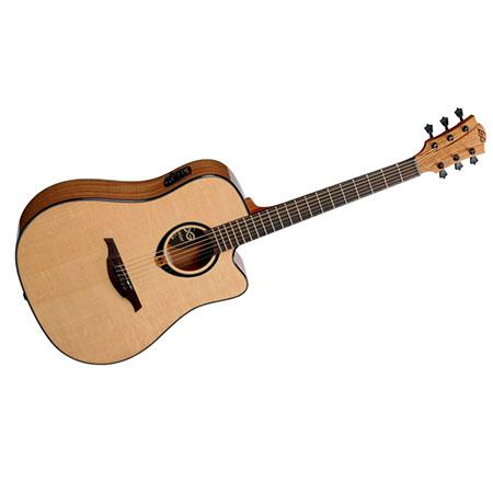 lag tramontane t80dce dreadnought cutaway acoustic electric guitar natural t80dce. Black Bedroom Furniture Sets. Home Design Ideas