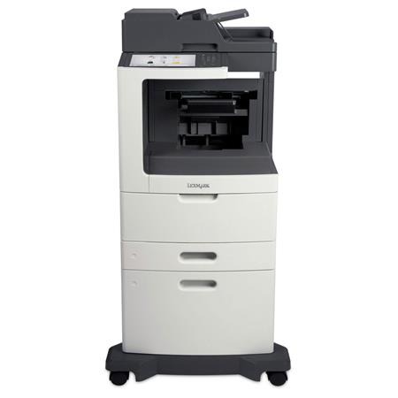 Lexmark MX811dxfe B&W Laser Multifunction Printer, Staple Finisher, 63 ppm,  2750 Pages Standard - Print, Copy, Scan, Fax
