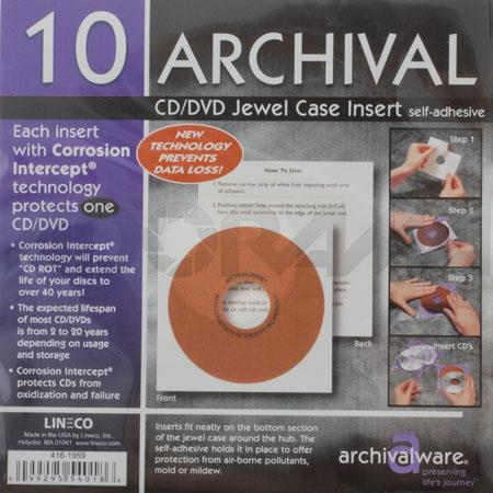 lineco 4161959 archival jewel case insert pack of 10 4161959