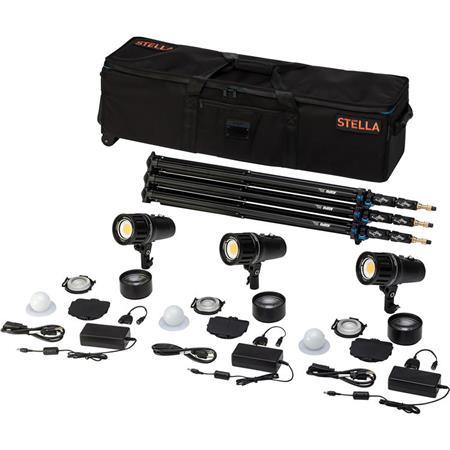 Light & Motion Stella Pro 555 LED 3-Light Kit, Includes 3x Stella Pro 5000  LED Light and 3x Light Modifier Kit