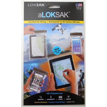 Loksak Tablet iPad Phone Case Dry Bag ITM 4 x aLOKSAK WATERPROOF STORAGE BAGS