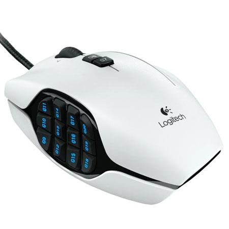 ee89bbd22eb Logitech G600 MMO Gaming Mouse, White 910-002871 - Adorama