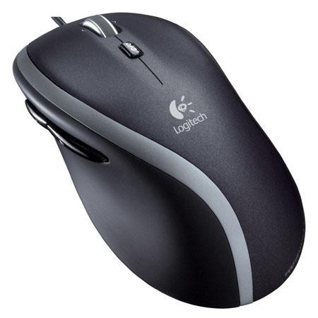 4ab637dc54e Logitech M500 Corded Laser Mouse, Black/Grey 910-001204 - Adorama
