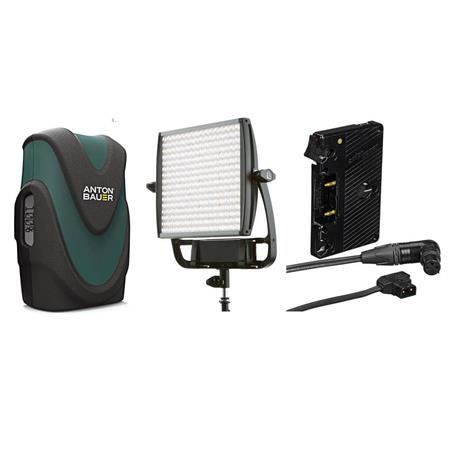new concept 3a1bc 6fcd0 Litepanels Astra 6X BiColor LED Light Panel 105W With Gold Mount  Battery/Bracket