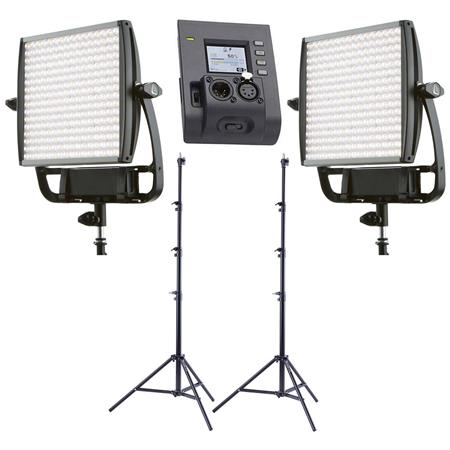 size 40 93b9d 4a455 Litepanels 2 Pack Astra 6X Bi-Color LED Panel W/Pro 9.5 Stand/ASTRA 1x1 XLR  DMX