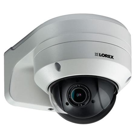 Lorex LNZ44P4B Super High Definition 4MP Indoor/Outdoor Day & Night PTZ  Network Dome Camera with Color Night Vision, 4x Optical Zoom, Vandal