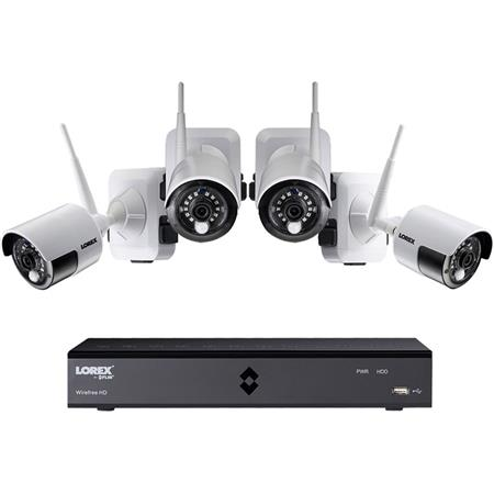 lorex 100 wire free 6 channel hd 4 camera security system