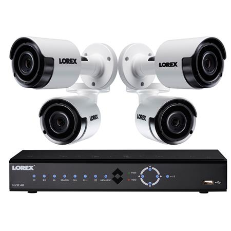 Lorex LNK71082T 8-Channel 4K UHD 2TB NVR with 4x 5MP Night Vision Bullet  Cameras