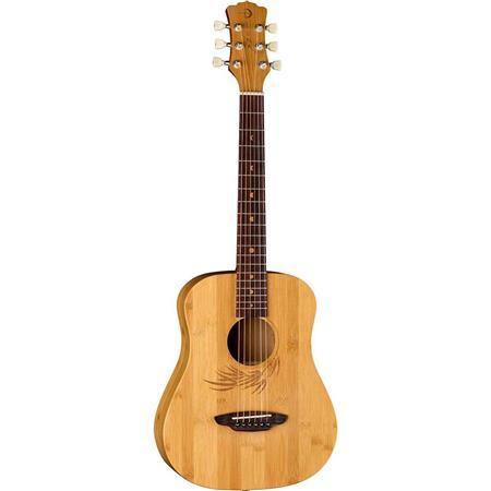 3221d579e2 Luna Safari Bamboo 6-String Acoustic Travel Guitar with Gigbag ...