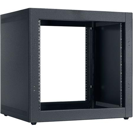 Lowell Manufacturing LDTR-1018 10U Desktop Rack with Front and Rear  Mounting Rails, 18 18