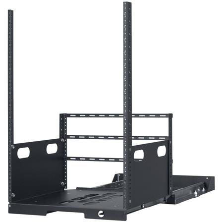 Lowell Manufacturing LPOR2-1619 16U Pull-Out Rack with 2 Slides, 19