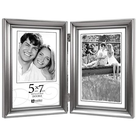 Malden International Concourse Pewter Metal Picture Frame For 5x7
