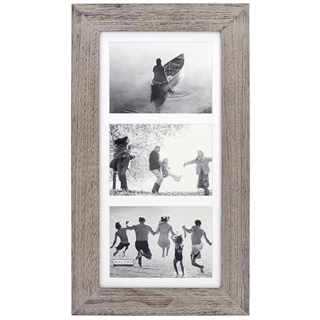 Malden International Manhattan 3 Opening Wood Picture Frame Holds