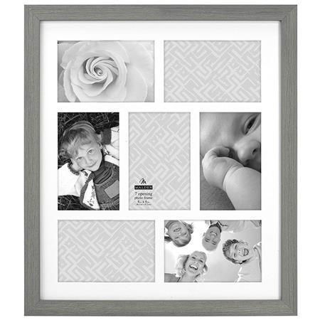 e87598c93d67 Malden International Linear Wood Distressed 7-Opening Collage Frame ...