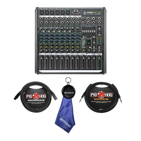 mackie profx12v2 12 channel professional fx mixer with usb with accessory kit profx12v2 c. Black Bedroom Furniture Sets. Home Design Ideas