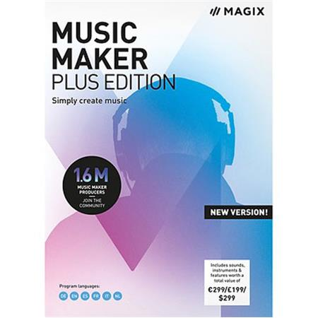 Magix Music Maker Plus Edition 2019 Software, Electronic Download
