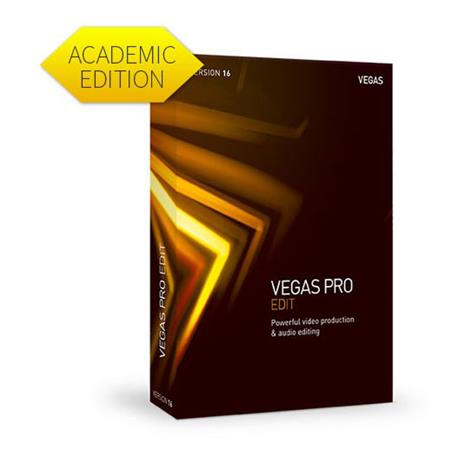 Magix VEGAS Pro 16 Edit Powerful Video Production & Audio Editing Software,  Academic, Electronic Download