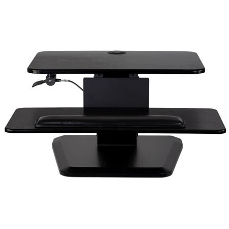 Mount It Height Adjustable Sit Stand Desk Converter 33 Lbs Capacity