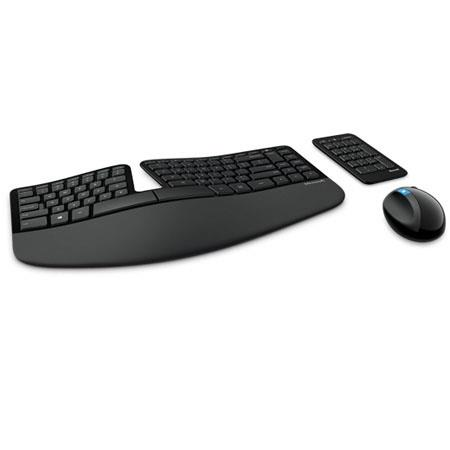 Microsoft Sculpt Ergonomic Desktop Wireless USB Keyboard and Mouse with  Separate Number Pad