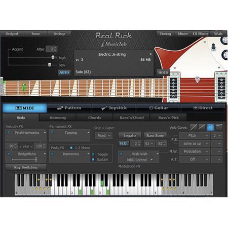 MusicLab RealRick Rickenbacker Guitar Virtual Instrument VST/AU Software  Plug-In, Electronic Download