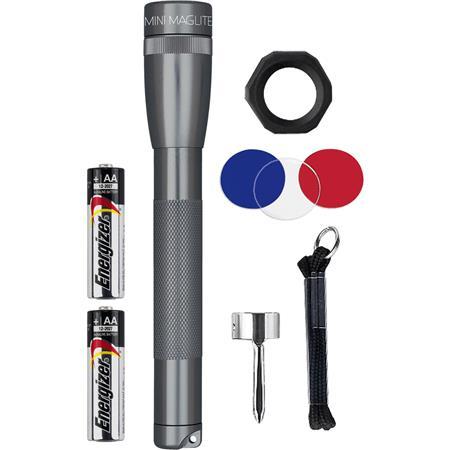 Maglite  Mini  97 lumens Black  LED  Flashlight//Holster Combo Pack  AA Battery