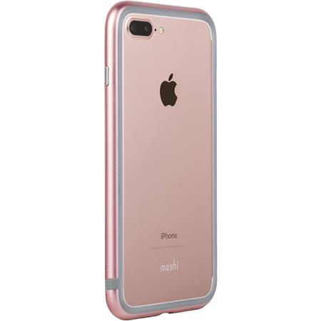 pretty nice 9e355 909c0 Moshi Luxe Metal Bumper Case for iPhone 7 Plus, Pink