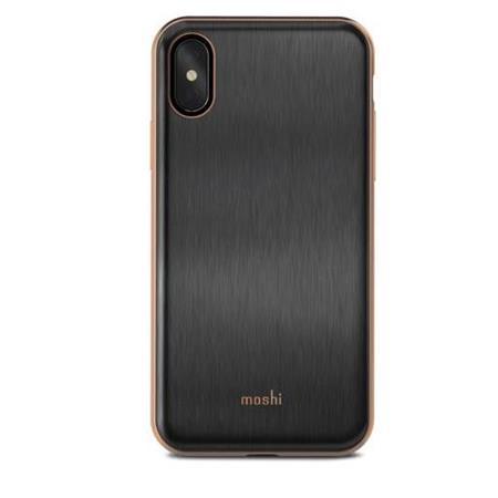 new arrival 6a6e2 3d23f Moshi iGlaze Hardshell Case for iPhone X - Black