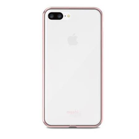 best service 4a1ab 3c769 Moshi Vitros Crystal Clear Case for iPhone 8 Plus - Orchid Pink Edges