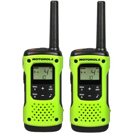 Motorola T600 22 Channel 35 Mile Range IP67 Waterproof Two-Way Radio with  Charging Adapter, 2 Pack