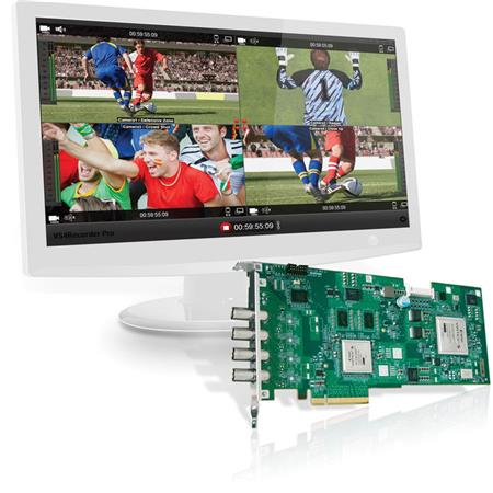 Matrox VS4Recorder Pro Software and VS4 Quad HD-SDI Capture Card for  Telestream Wirecast Pro