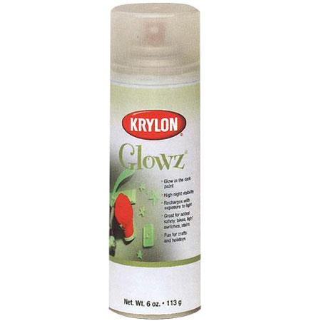 krylon glowz glow in the dark spray paint 6oz can kr3150. Black Bedroom Furniture Sets. Home Design Ideas