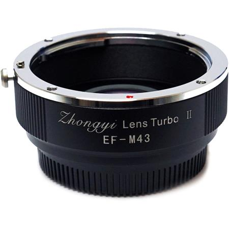 Micro Four Thirds Camera Version II Mitakon Zhongyi Lens Turbo Adapter for Canon EF M43 M43 // MFT