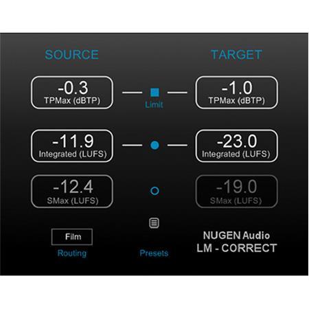 NUGEN Audio LM-Correct 2 Auto Loudness Compliant Audio