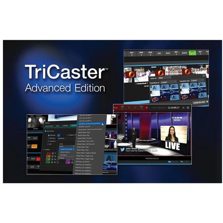 NewTek TriCaster Advanced Edition Software for 860 Switcher, Electronic  Download