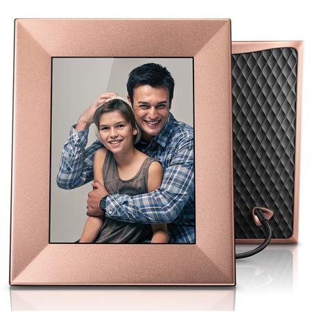 Nixplay Iris 8 Wi Fi Cloud Digital Picture Frame Peach Copper 307