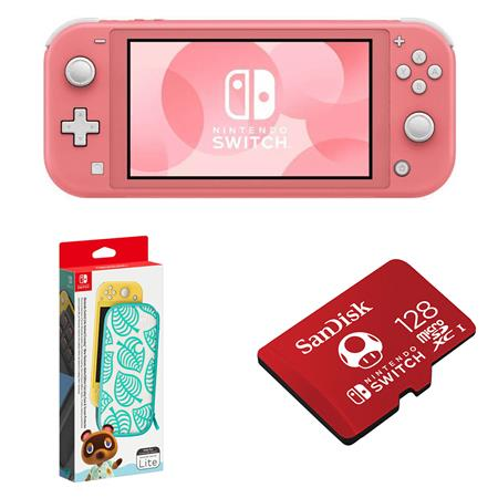 animal crossing switch case pink