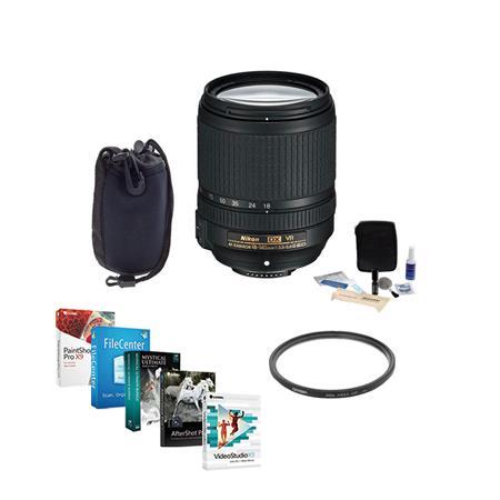 USA Bundle with 58mm Filter Kit /& Pro Software Set Nikon 50mm f//1.8G AF-S NIKKOR Lens