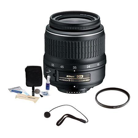 Nikon AF-S DX VR Zoom-Nikkor 55-200mm f//4-5.6G IF-ED Nikon 18-55mm f//3.5-5.6G ED II AF-S DX Zoom-Nikkor 52mm Pro series Multi-Coated High Resolution Digital Ultraviolet Filter For Nikon AF-S Nikkor 35mm f//1.8G DX Lens