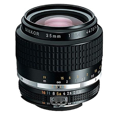 A nikon 200mm f4 ai nikkor telephoto manual focus lens with built.