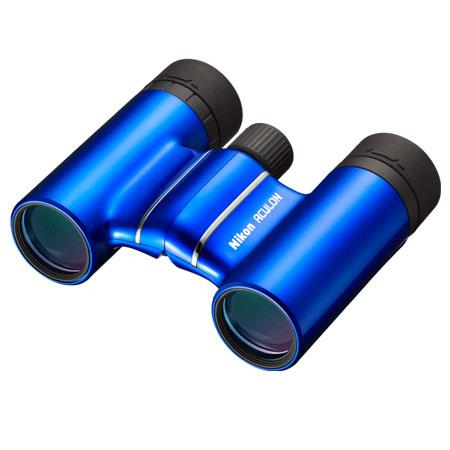 Nikon 8x21 Aculon T01 Weather Resistant Roof Prism Binocular with 6 3  Degree Angle of View, Blue Finish