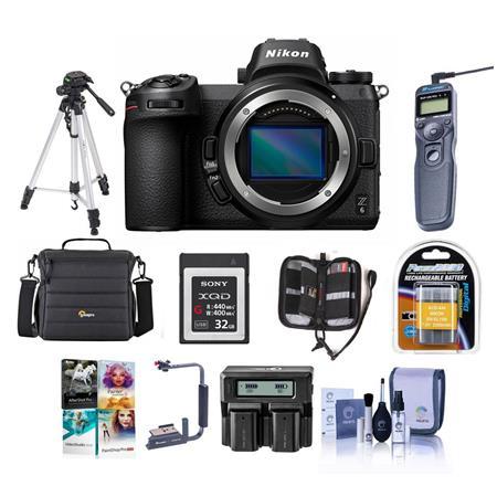 Nikon Z6 FX-Format Mirrorless Camera Body With Premium Accessory Bundle