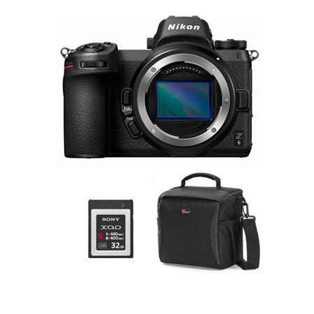 Nikon Z6 FX-Format Mirrorless Camera Body - Bundle With 32GB Premium XQD  Memory Card, Camera Case