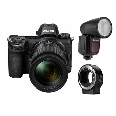 Gadget Place Bracket with Two Shoes for Microphone /& Video Light for Nikon Z 7 Z 6 Z7 Z6