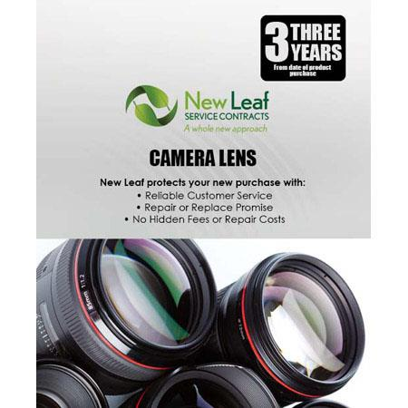 New Leaf 3 Year Camera Lens Service Plan for Products Retailing up to  $1000 00