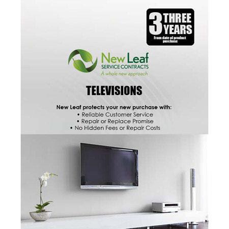 New Leaf 3 Year Extended Warranty, TVs under $500 TVA3U500 - Adorama
