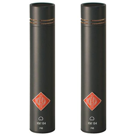 Black 20 kHz Frequency Response Neumann SKM 184 Stereo Matched Microphone With 2x 15 XLR M to XLR F Microphone Cable with Rean by Neutrik Gold Connectors 20 Hz Pair 50 Ohms Output Impedance