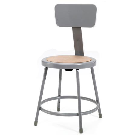 Astonishing National Public Seating 6200 Series 18 Heavy Duty Steel Stool With Backrest Masonite Wood Seat Gray Frame Dailytribune Chair Design For Home Dailytribuneorg