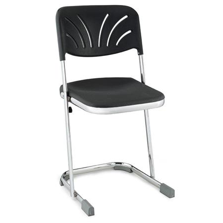 Cool National Public Seating 6600 Series 18 Elephant Z Stool With Backrest Black Seat Chrome Frame Machost Co Dining Chair Design Ideas Machostcouk