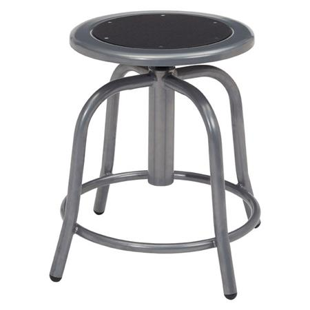 Remarkable National Public Seating 6800 Series 18 24 Height Adjustable Designer Stool Black Seat Gray Frame Inzonedesignstudio Interior Chair Design Inzonedesignstudiocom