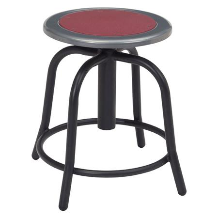 Incredible National Public Seating 6800 Series 18 24 Height Adjustable Designer Stool Burgundy Seat Black Frame Ocoug Best Dining Table And Chair Ideas Images Ocougorg